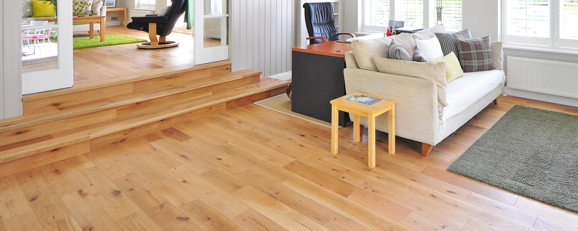 timber flooring in room