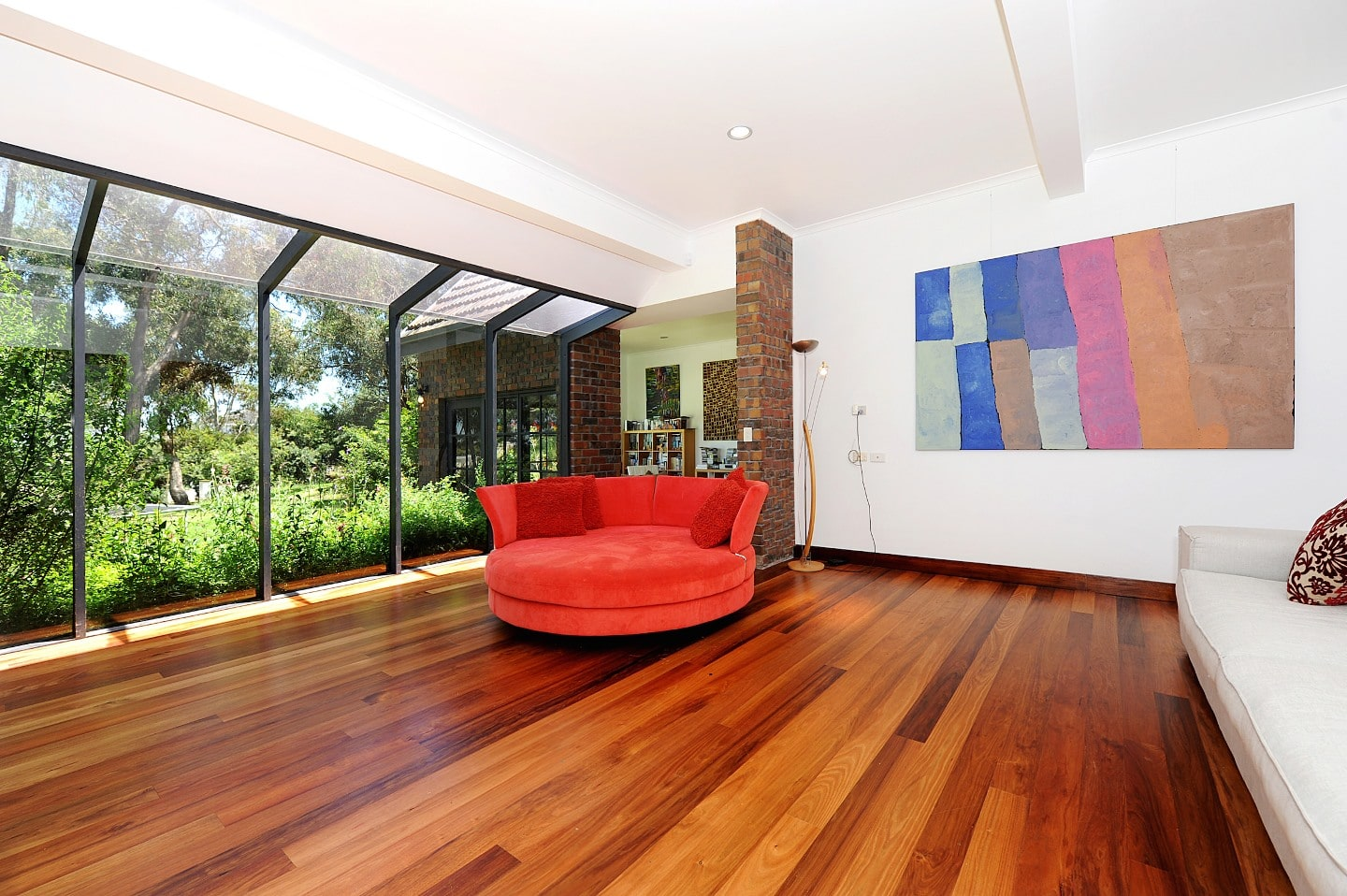 Blackwood flooring in lounge