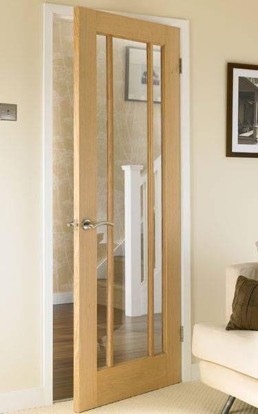 American Oak Quot 3 Light Quot Internal Timber Door Uptons Group