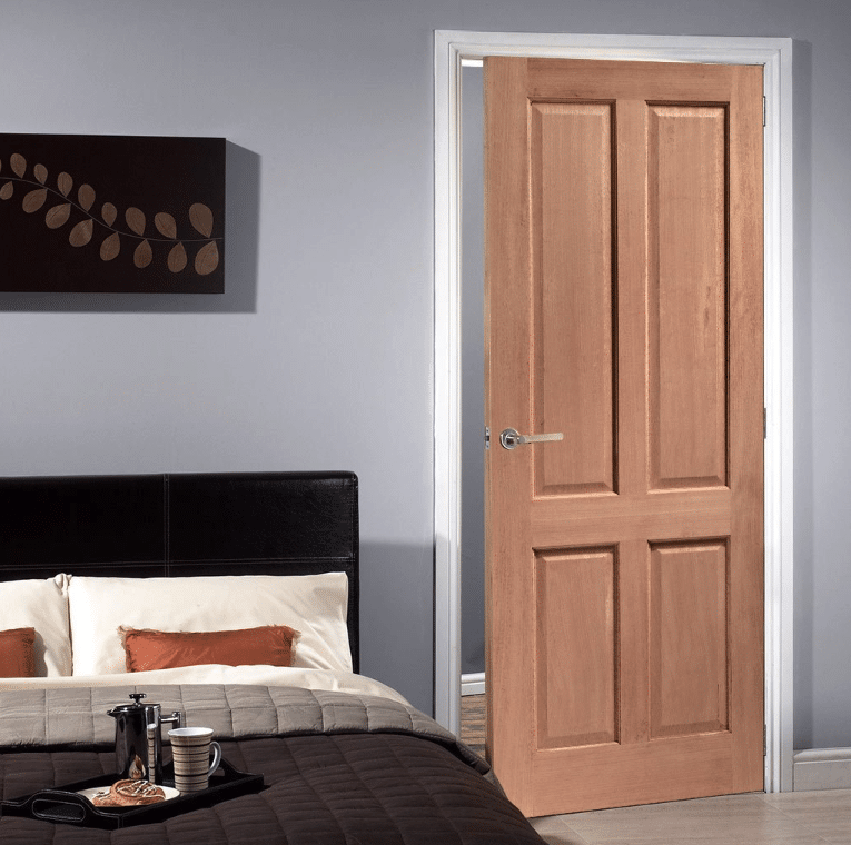 Meranti 4 Panel Internal Timber Door Uptons Group